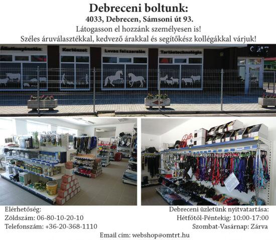 Debreceni üzletünk elérhetőségei